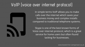VoIP voice over internet protocol telephone systems